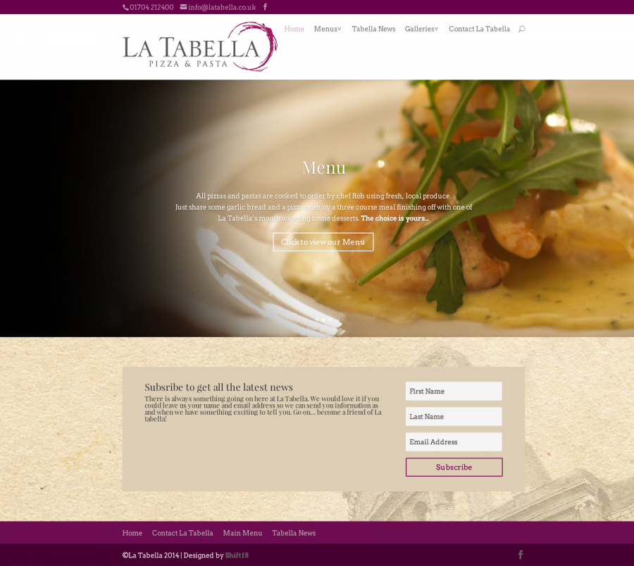 La Tabella Website Completed