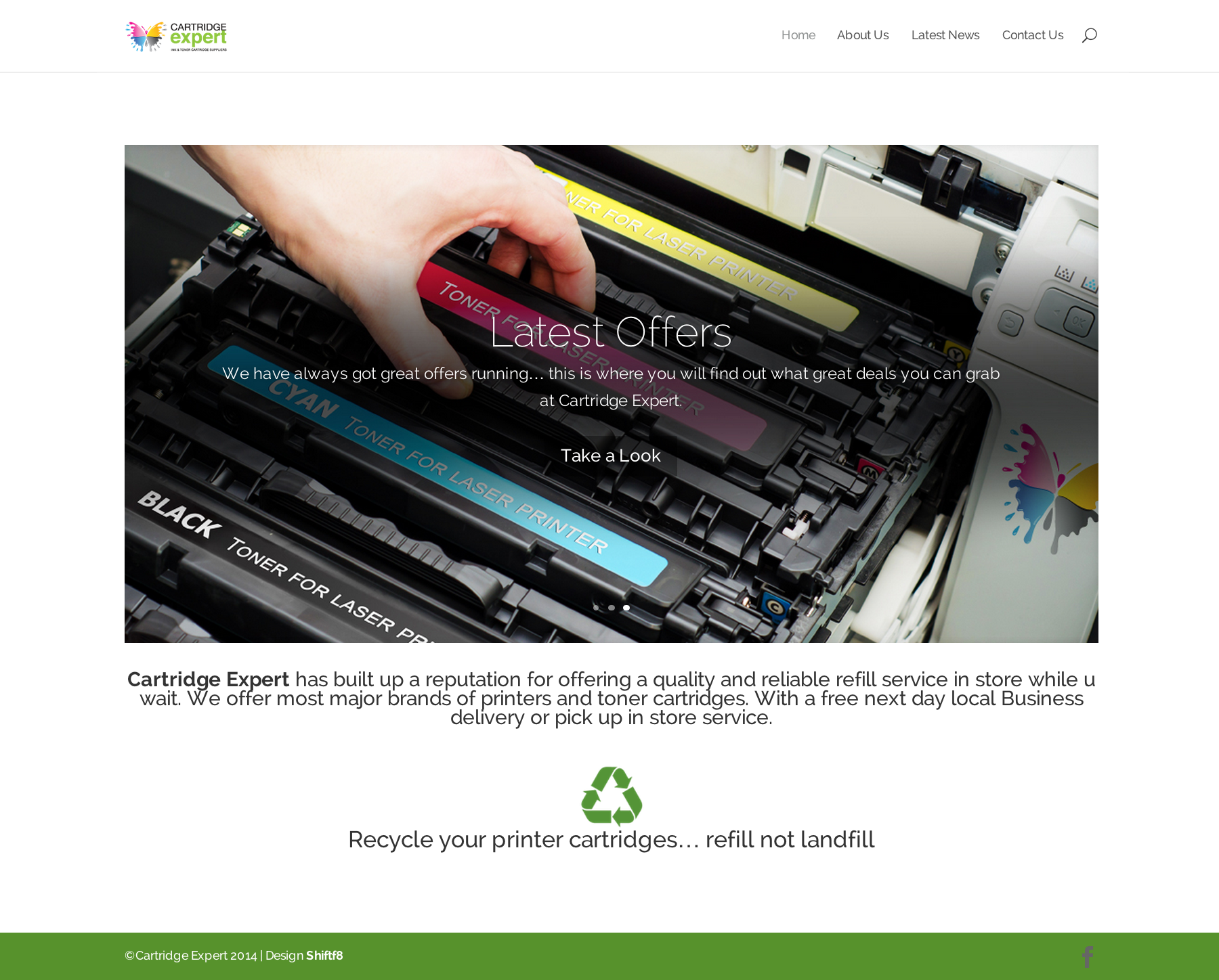 Cartridge Expert Website Completed