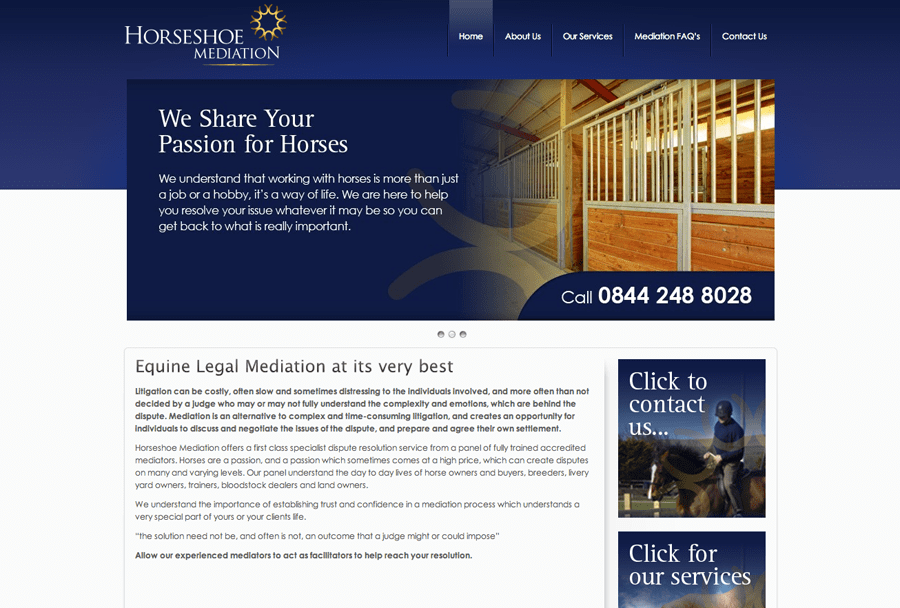 Horseshoe Mediation Site Completed